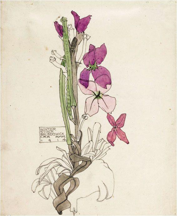 Winter Stock by Charles Rennie Mackintosh & Margaret MacDonald Mackintosh, 1914