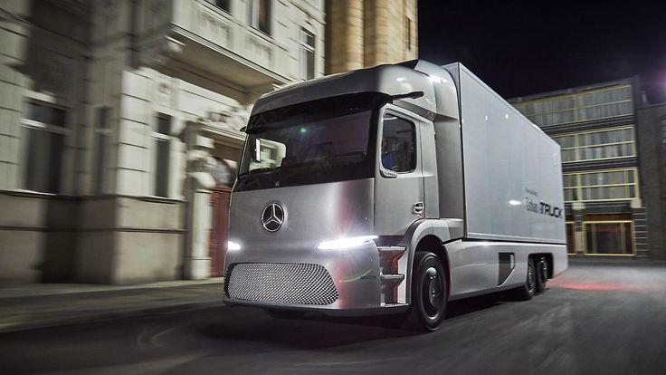 Nutzfahrzeuge von übermorgen: Daimler präsentiert futuristisches Trio