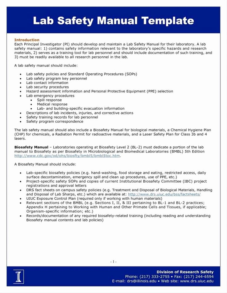 General Contractor Safety Manual Template In 2020 Label