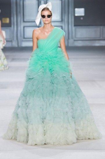 Giambattista Valli vestito verde acqua