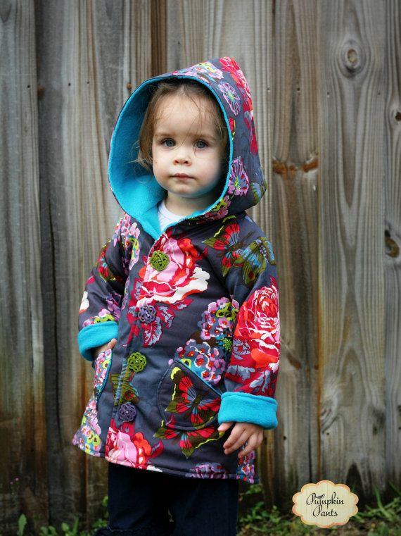 Whimsy Couture Sewing Pattern Tutorial PDF ebook -- Hooded Jacket Boys Girls -- (reversible) sizes 2t -size 10 Instant