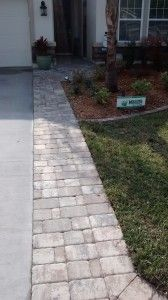 Driveway paver extension - I need to do this, I keep driving on the grass.