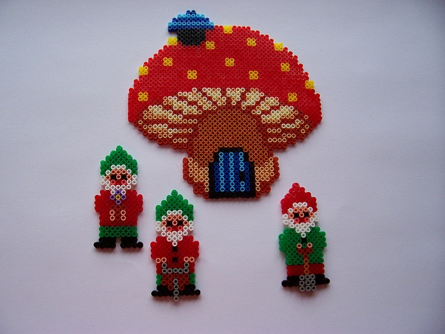 gnomes perler beads