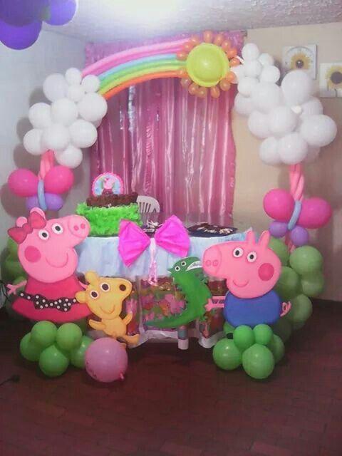 Peppa Party Setup