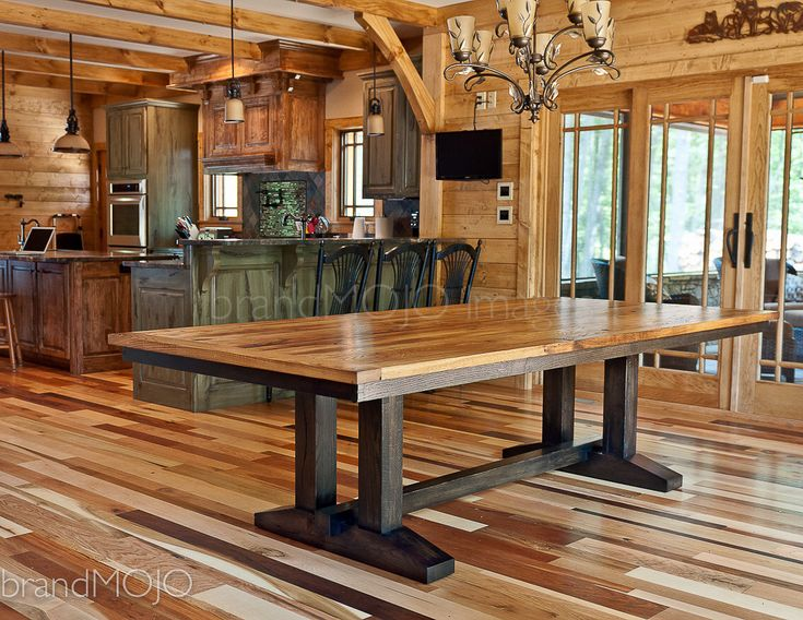 Wormy Chestnut Dining Table Made in the USA with Reclaimed Antique Wood - Custom Table Furniture - Conference Table - Antique Solid Wood by brandMOJOinteriors on Etsy https://www.etsy.com/listing/152824391/wormy-chestnut-dining-table-made-in-the