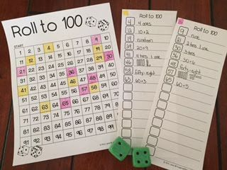 FREEBIE! Fun math game to practice place value and other number skills! Play in partners or a small guided math group!