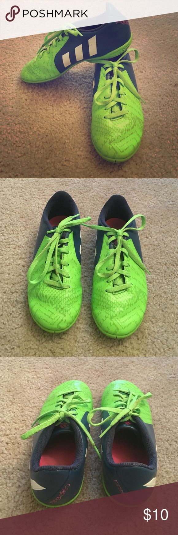 Girls Indoor Soccer Shoes Girls Adidas Indoor Soccer Shoes. Worn one indoor session. Good condition. Size 3.5. adidas Shoes