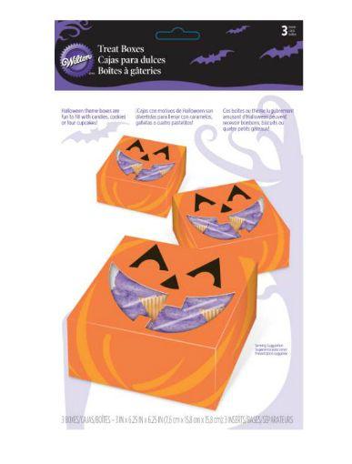 #Halloween-Autunno : Scatole porta dolci zucca Wilton 3 pz