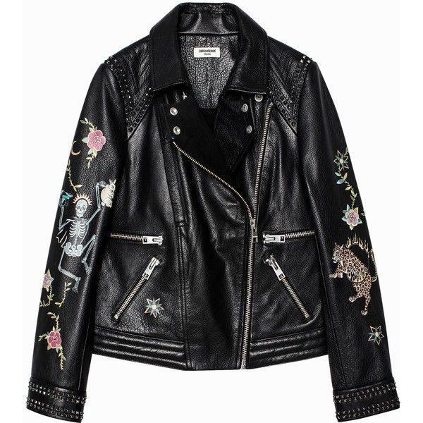 Kawai Tattoo Deluxe Jacket ($1,050) ❤ liked on Polyvore featuring outerwear, jackets, tattoo jacket, 100 leather jacket, genuine leather jackets, real leather jackets and leather jackets