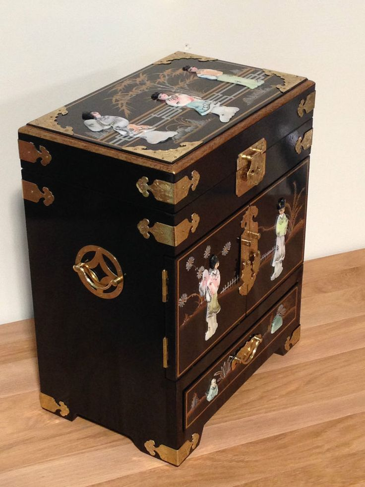 Details about black with mother of pearl lacquered for Chinese black lacquer furniture