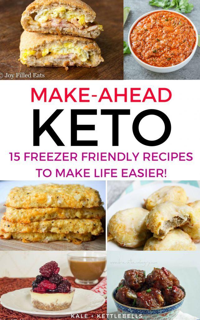 Planung kohlenhydratarmer Mahlzeiten: 15 Keto-Rezepte für die Gefriertruhe – #Ahead #Ca …