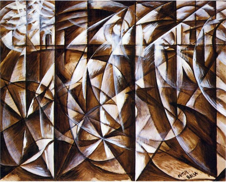 Giacomo BALLA :: Velocity of Cars anf Light (1913)