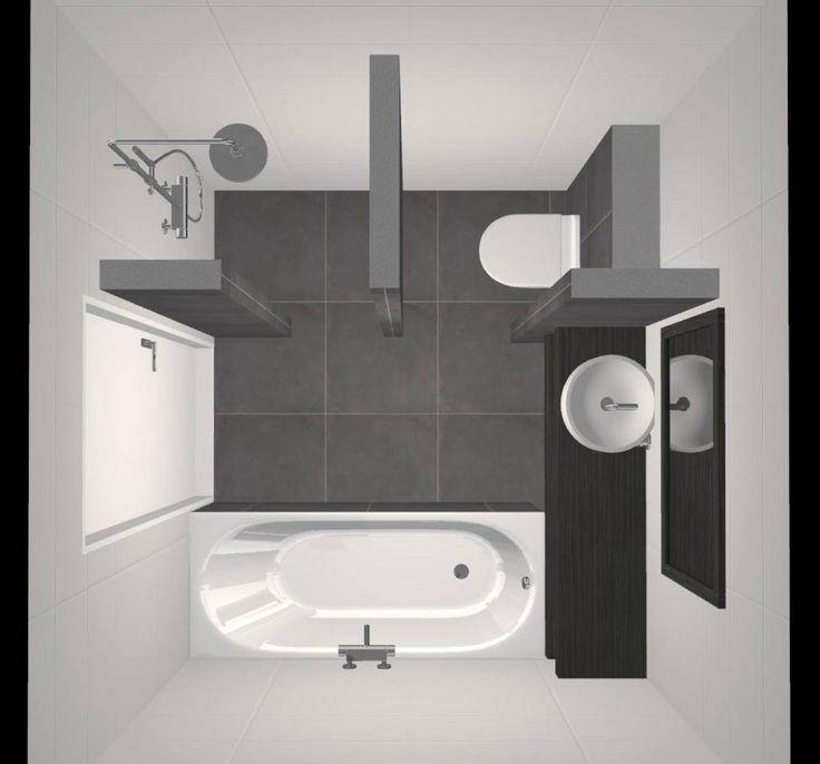 Afbeeldingsresultaat voor badkamer 6 m2 met hoekbad
