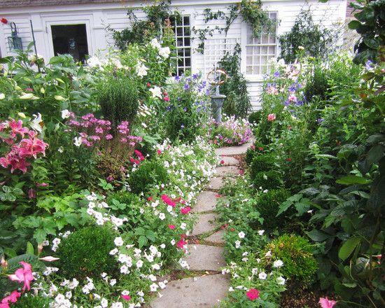 French Cottage Garden Design traditional landscape by walpole landscape architects designers natureworks landscape services inc English Cottage Design