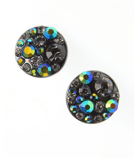 Cecei rotunzi cu cristale multicolore - Cumpara-i acum la pretul de doar 24,99 lei