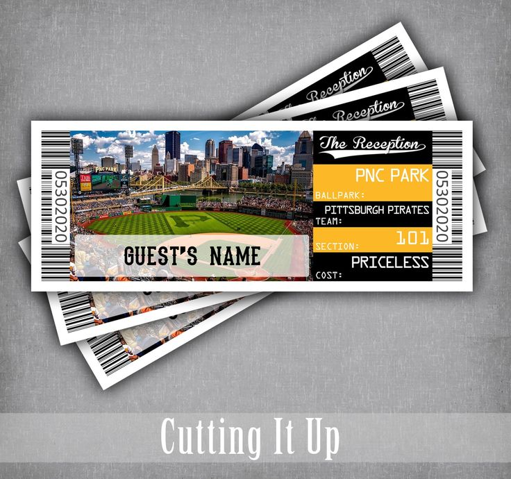 Chicago Editable Flat or Folded Escort Card Seating Chart Placecard Template Download Baseball Wedding Ticket Place Cards With Meal Choice