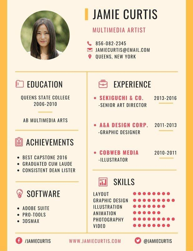 Minimal Multimedia Artist Resume Templates Canva Artist Resume Artist Cv Resume Design Template