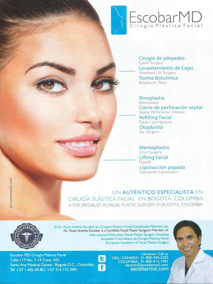 Dr. Escobar : Un auténtico especialista en cirugía plástica facial / Dr. Escobar : A top specialist in facial plastic surgery --- Publicado en AVIANCA Entretenimiento - Edición 16, Septiembre de 2014 / Published in AVIANCA Entertainment - 16th Edition, September 2014
