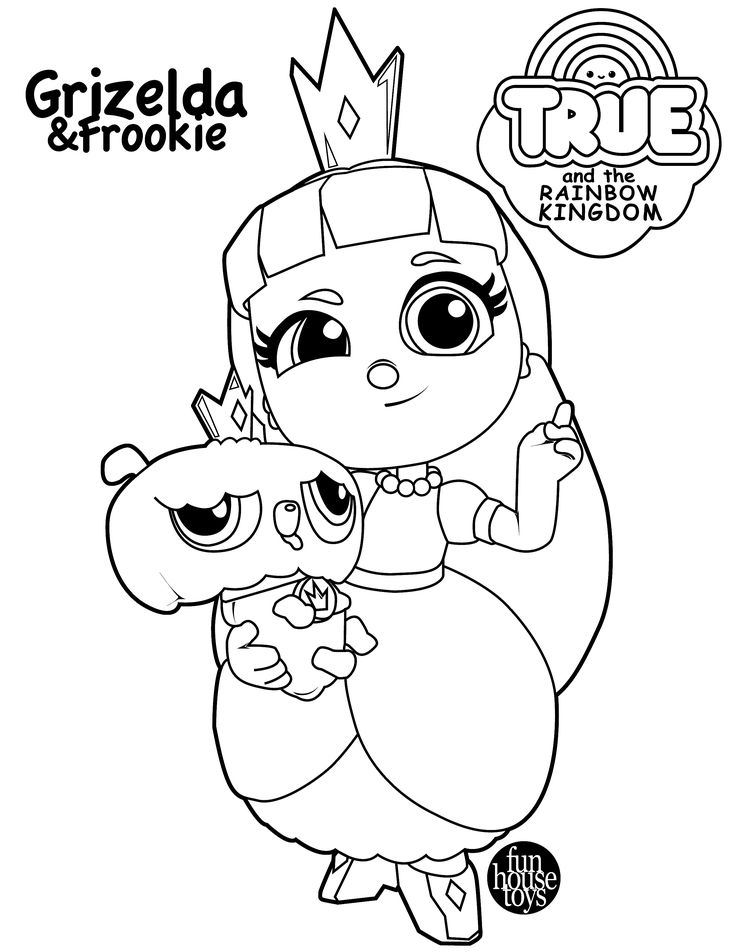 PRINCESS GRIZELDA AND FROOKIE FROM TRUE AND THE RAINBOW