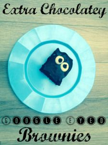 Extra chocolatey google eyed brownies recipe - A not so scary Halloween treat or great for when you just fancy something silly.