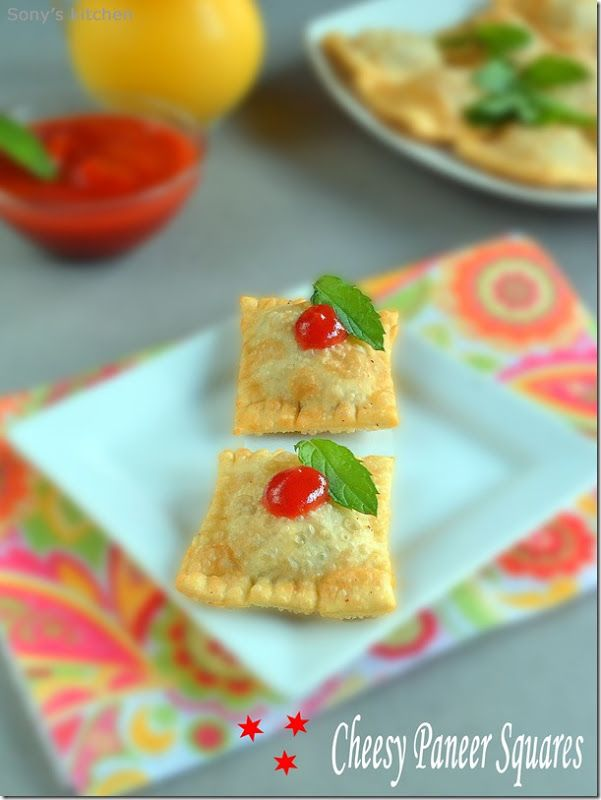 Cheesy Paneer Squares–Snacks Recipe