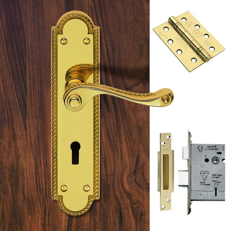 FG27 Georgian Suite Lever Lock Polished Brass Handle Pack. #doorhandlepack #doorhandlelock #externaldoorhandle