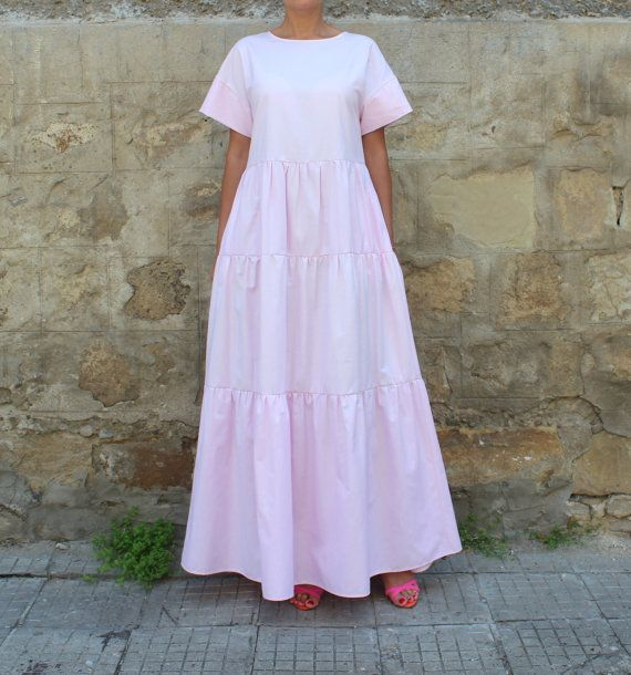 Pink Maxi Dress Boho dress Maxi Dress Boho by cherryblossomsdress