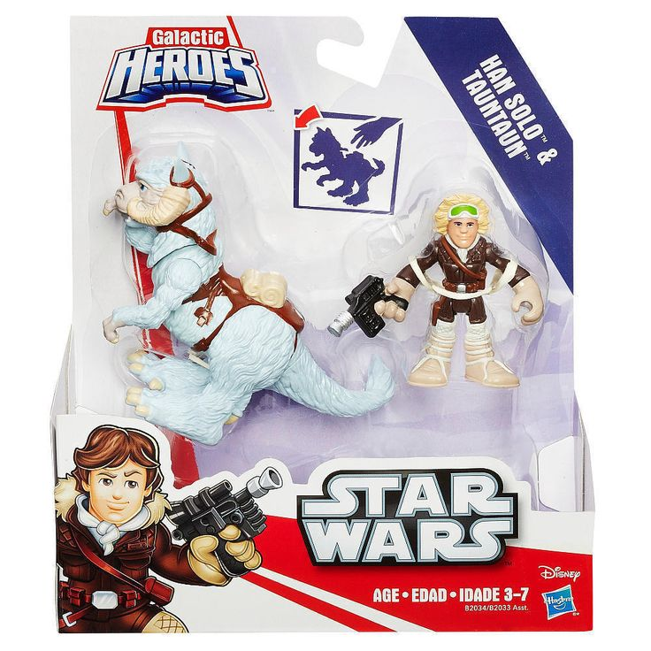 Star Wars Galactic Heroes Han Solo & Tauntaun Action Figures by Hasbro NEW #Hasbro