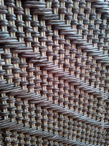 Здравствуйте, дорогие соседи! Хочу показать Вам одну из своих последних работ - угловая корзина для белья. Размер 35*35, высота 60 см. На этот раз решила рискнуть и поэкспериментировать с рисунком, схему выбрала в пинах. фото 6
