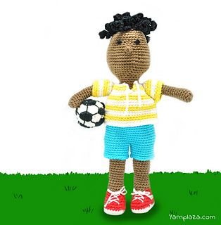 Sturdy football player George is the newest addition to our amigurumi collection. Are you as big a fan of George as we are?