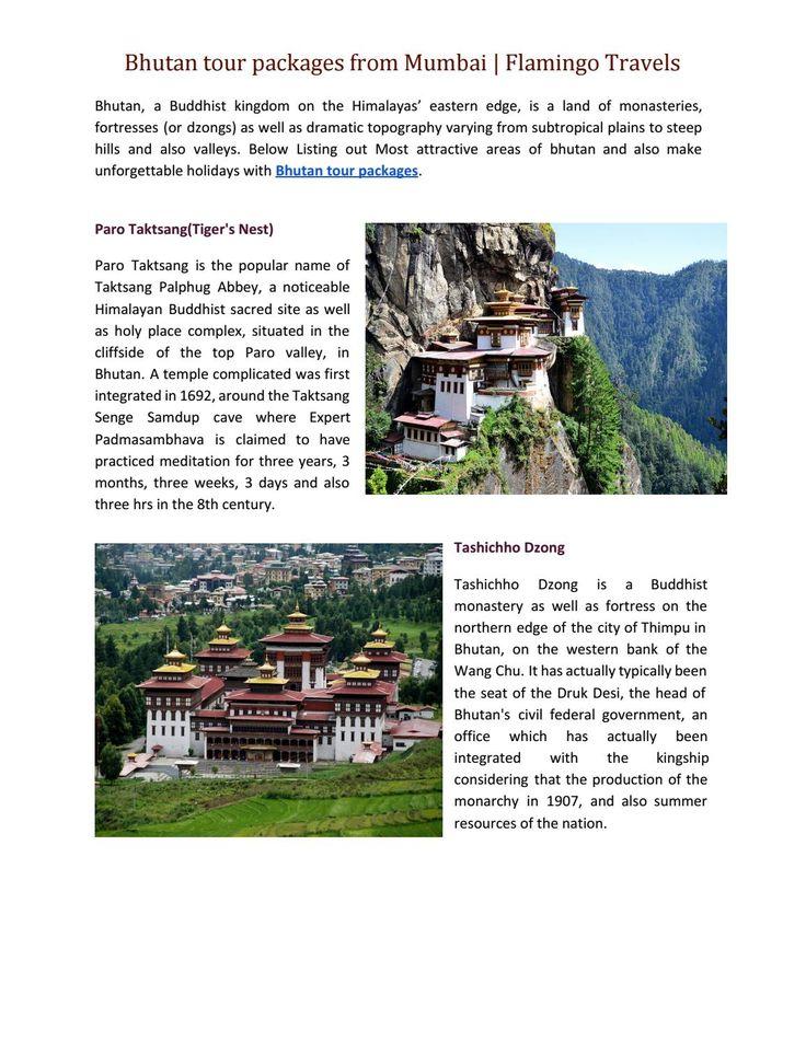 Bhutan tour packages from Mumbai | Flamingo Travels