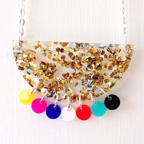 Each To Own Tribal Brights Necklace with lush glitter