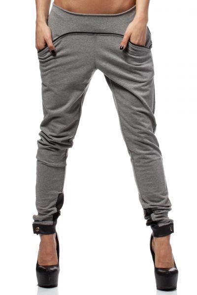 Szare spodnie dresowe o swobodnym kroju