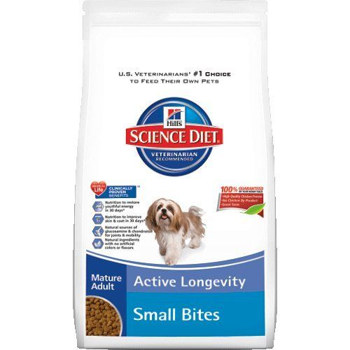 Hill's Science Diet Mature Adult Active Longevity Small Bites Dry Dog Food Bag, 33-Pound - http://weloveourpugs.net/?product=hills-science-diet-mature-adult-active-longevity-small-bites-dry-dog-food-bag-33-pound