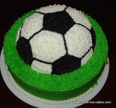 Soccer Cake You Can Make kids birthday ideas Pinterest