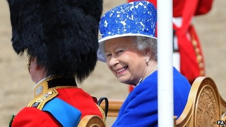 Trooping the Colour marks the Queen's official birthday