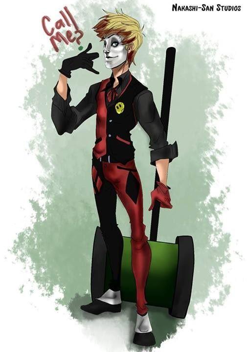 Harley Quinn gender swap by NakashiOroshu.deviantart.com on @DeviantArt