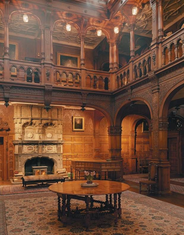 Photographs by Philip Sinden. Awesome castle interior