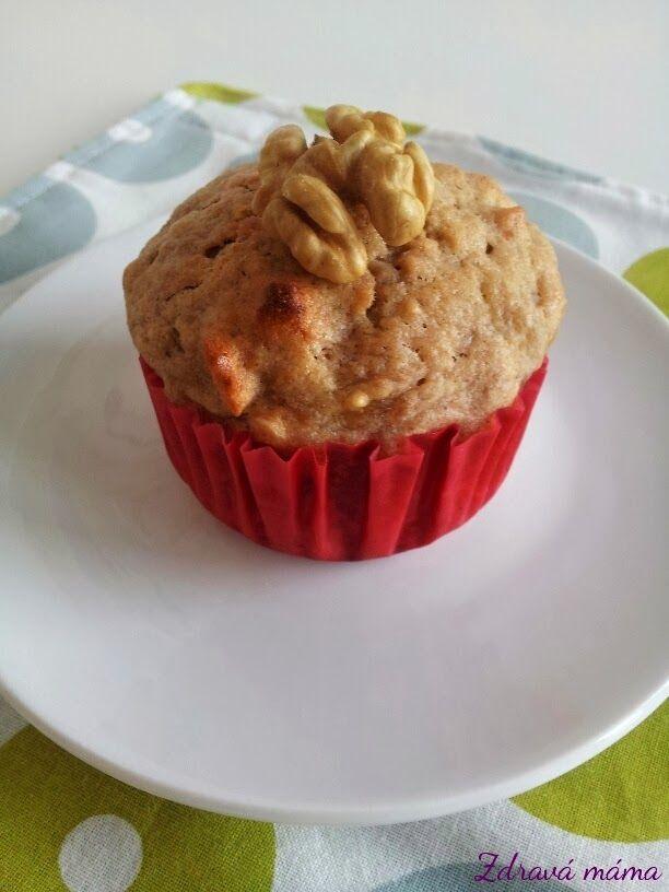 Banánové muffiny s vlašskými ořechy - Zdravá máma