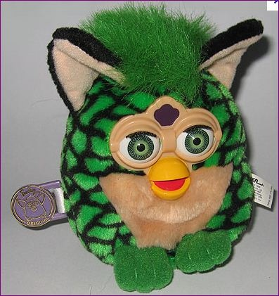 green and black snakeskin furbie