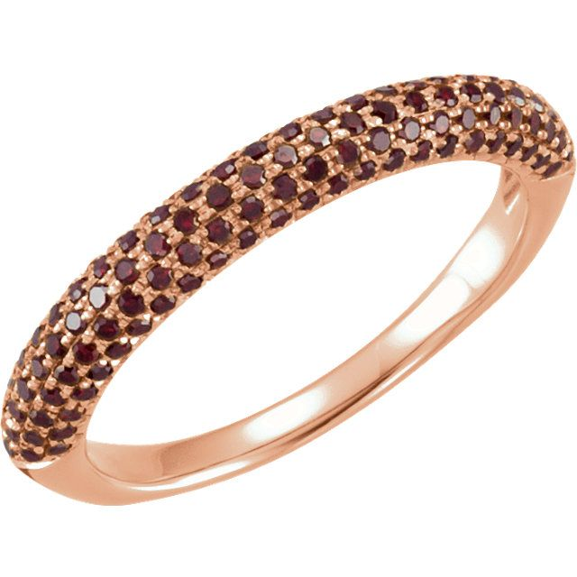 14kt rose diamond pave ring, 3/8cttw. Find it at a jeweler near you: www.stulller.com/locateajeweler #coloroftheyear #marsala #pantone