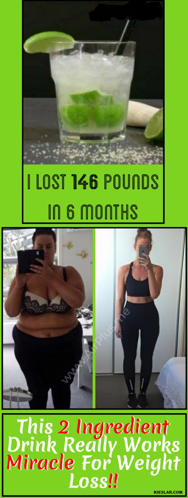I Lost 146 Pounds In 6 Months, This 2 Ingredient Drink Really Works Miracle For Weight Loss!!