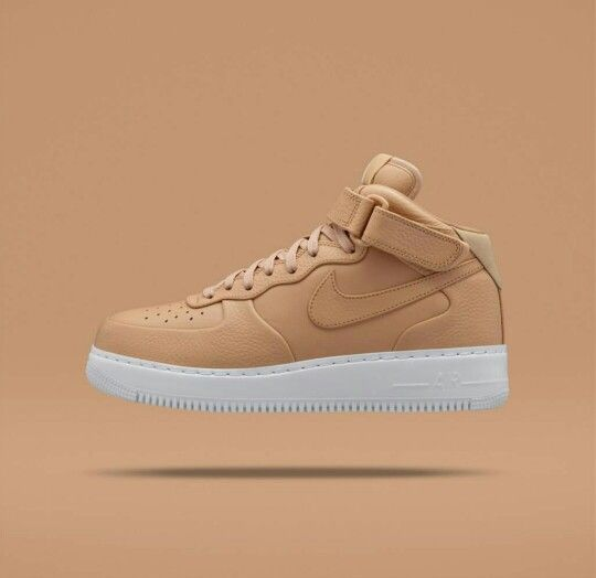 Air Force 1 Mid in premium vachetta tan leather by NikeLab.