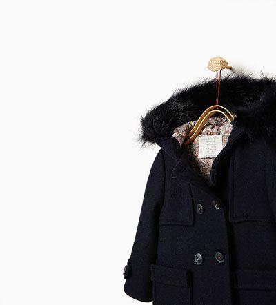 Duffle-coat à capuche fourrure-MANTEAUX-Bébé fillette-Bébé | 3mois-3ans | ZARA France