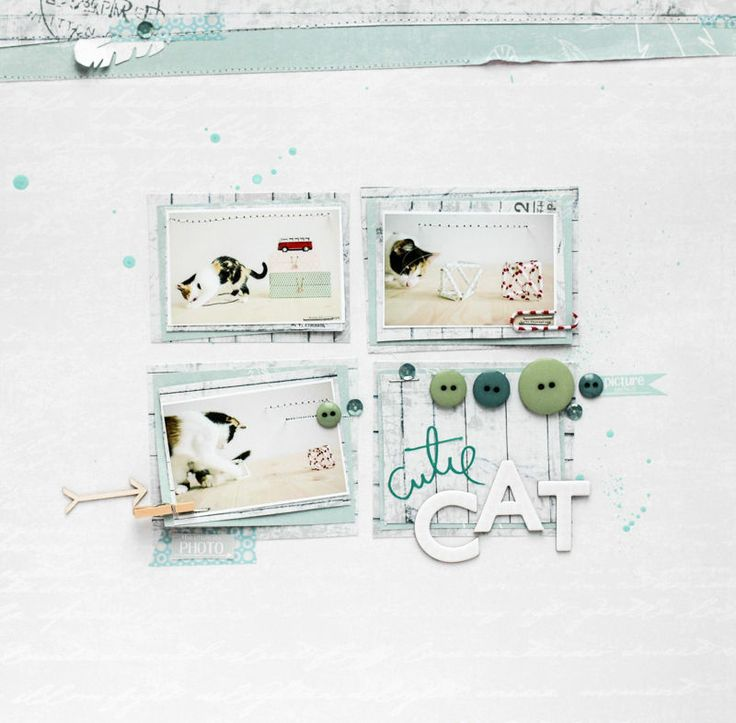 cute cat by all-that-scrapbooking at @Studio_Calico