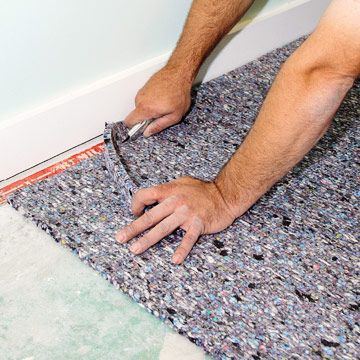 How to Laying carpet with carpet pad.