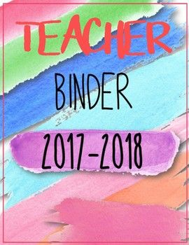 This 180 Page Watercolor Teacher Binder & Interchangeable Covers Set includes the following: Teacher Binder Cover Lesson Plan Cover Lesson Plan Templates Title Pages - Reading Title Page - Math Title Page - Science Title Page - Language Arts Title Page - Social Studies Title Page - Writing Title Page - Data Title Page Level Trackers (1st, 2nd, 3rd, Quarters) Standard Exam Results Templates (math, science, social studies, reading, writing) - Grades Title Page - Meetings Title Page - St...