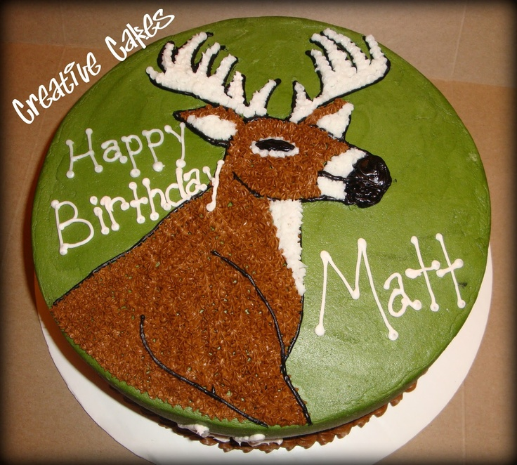 Creative cakes: Deer Hunting Cake I think Ross needs this Carmen