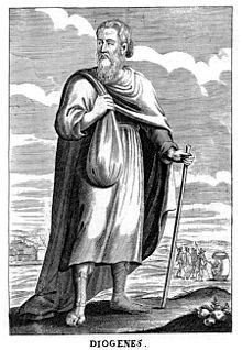 Diogenes of Sinope was one of the Greek founders of Cynic philosophy. He died at Corinth in 323 BCE. During his life, Diogenes of Sinope was a controversial figure.