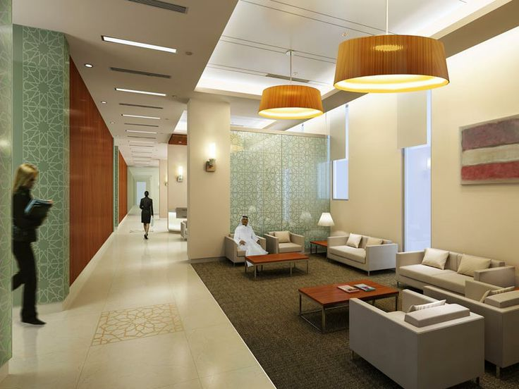 A waiting area at cleveland clinic abu dhabi cleveland clinic pinterest waiting area abu for Commercial interior design cleveland